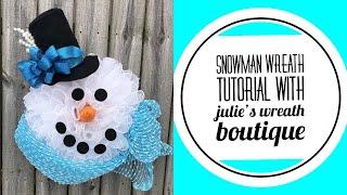 How To Make a Snowman Wreath / Snowman Decor / Do You Want to Build a Snowman?