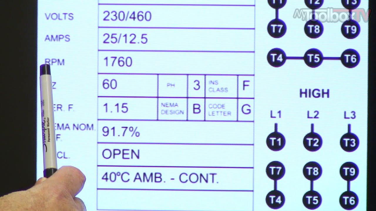 Baldor 3 Phase Motor Wiring Diagram Porsche 944 Nameplate Data - Mytoolboxtv Ep. 11 Youtube