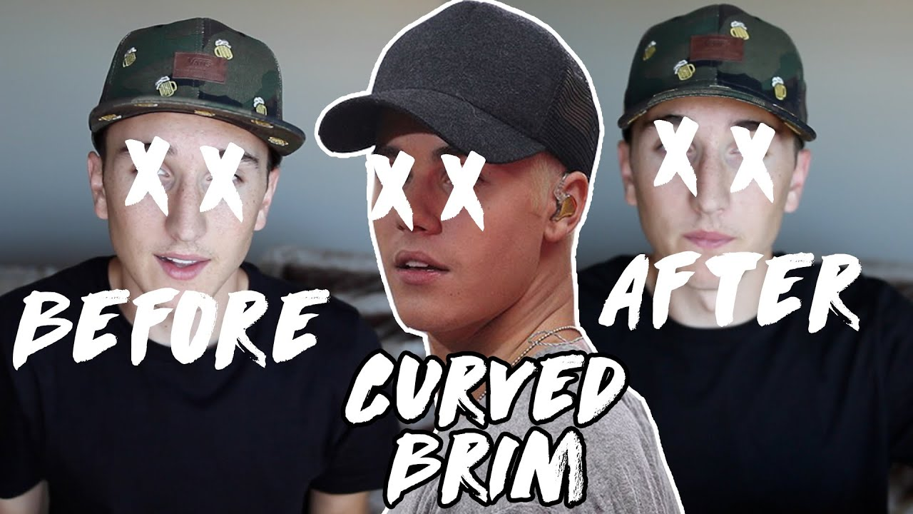 How To Curve Your Hat Brim Youtube