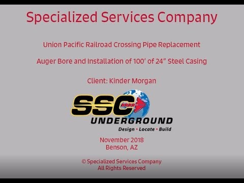 SSC Underground completes 100' bore under Railroad for Kinder Morgan  Pipeline Replacement