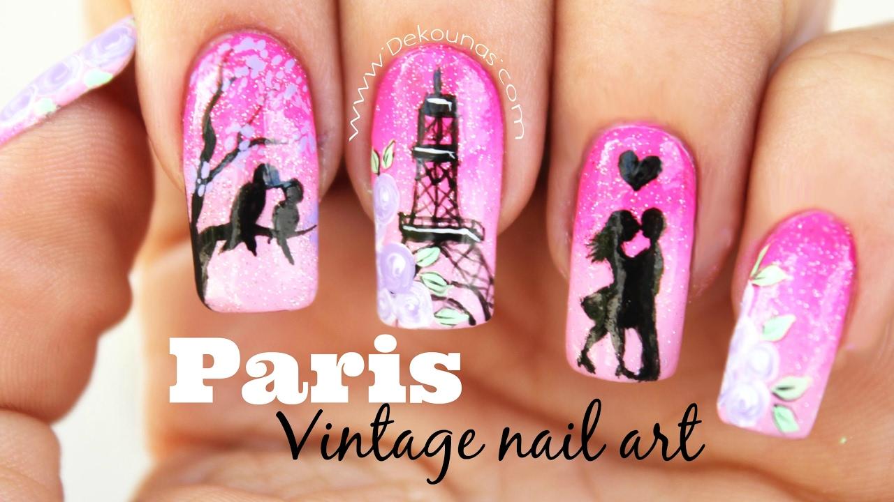 Decoración De Uñas Paris Vintage Paris Vintage Nail Art