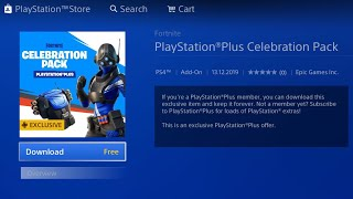 FORTNITE NEW PLAYSTATION PLUS CELEBRATION PACK! NEW FORTNITE FREE PS PLUS BUNDLE! FORTNITE PS PLUS