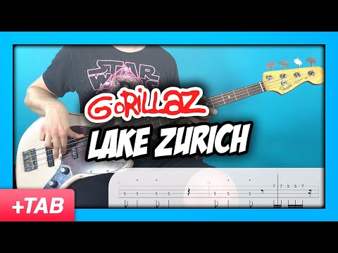 Gorillaz - Lake Zurich | Bass Cover + Live Tabs