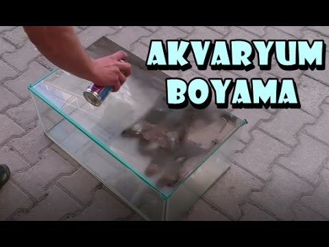 Akvaryum Sprey Boyama Youtube