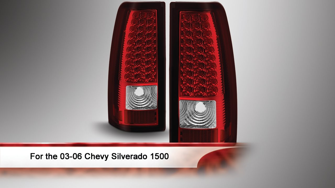 03 06 Chevy Silverado 1500 2500 And 3500 Led Tail Lights