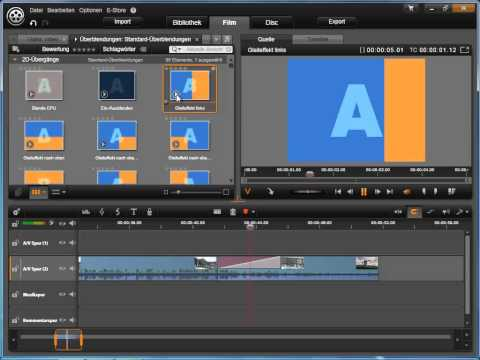 Übergangs Effekte hinzufügen in Avid studio und Pinnacle Studio