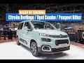 Citroën Berlingo, Peugeot Rifter y Opel Combo / Geneva Motor Show 2018