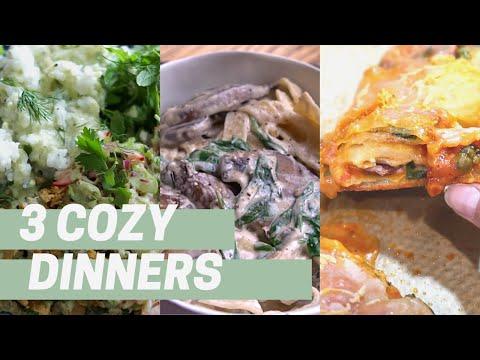 3 COZY VEGAN DINNERS