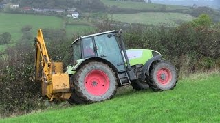 Hedge Cutting with Claas!