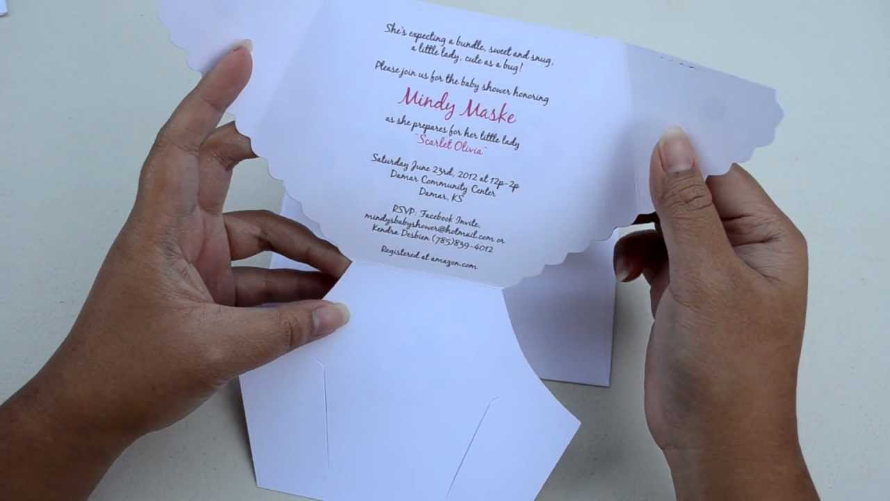 Baby Shower Diaper Invitations YouTube