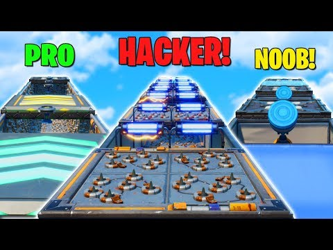 Hacker vs Pro vs Noob DEATHRUN Challenge in Fortnite!  (Fortnite Creative Mode)