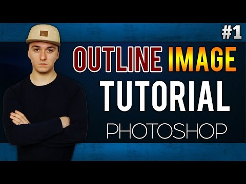 How To Outline An Image EASILY! - Adobe Photoshop CC - Tutorial #1
