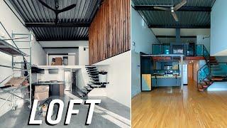Modern Studio Loft Makeover - GROOT voor- en na-opdatering!