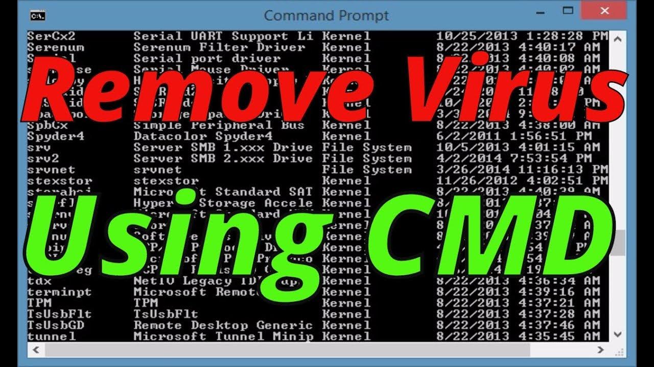 How to remove virus using cmd (2019) youtube.