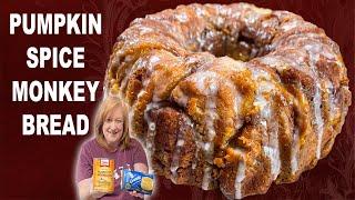 PUMPKIN SPICE MONKEY BREAD Recipe | How To Make Monkey Bread | Fall Dessert
