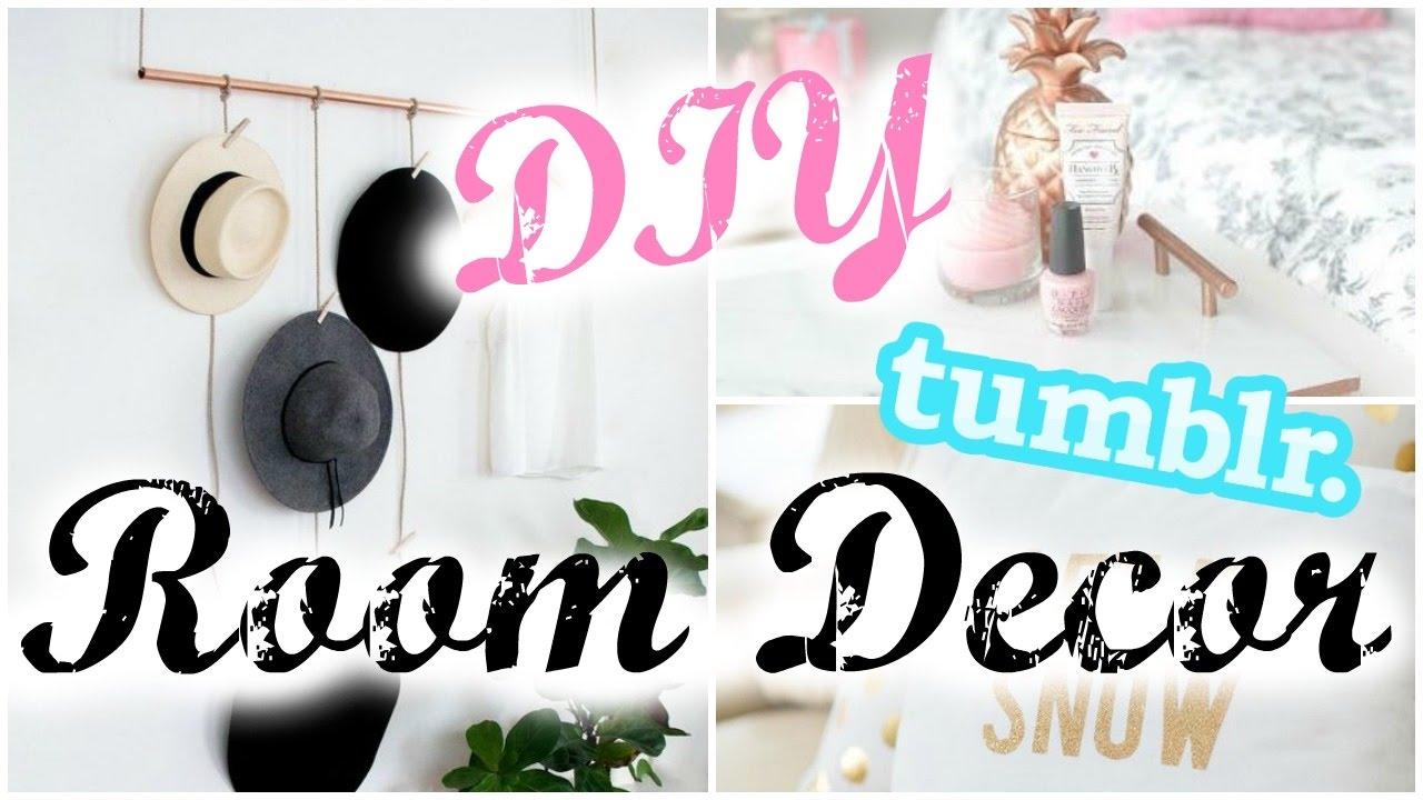 Diy room decor 2017 tumblr inspired youtube for Room decor diy ideas 2017