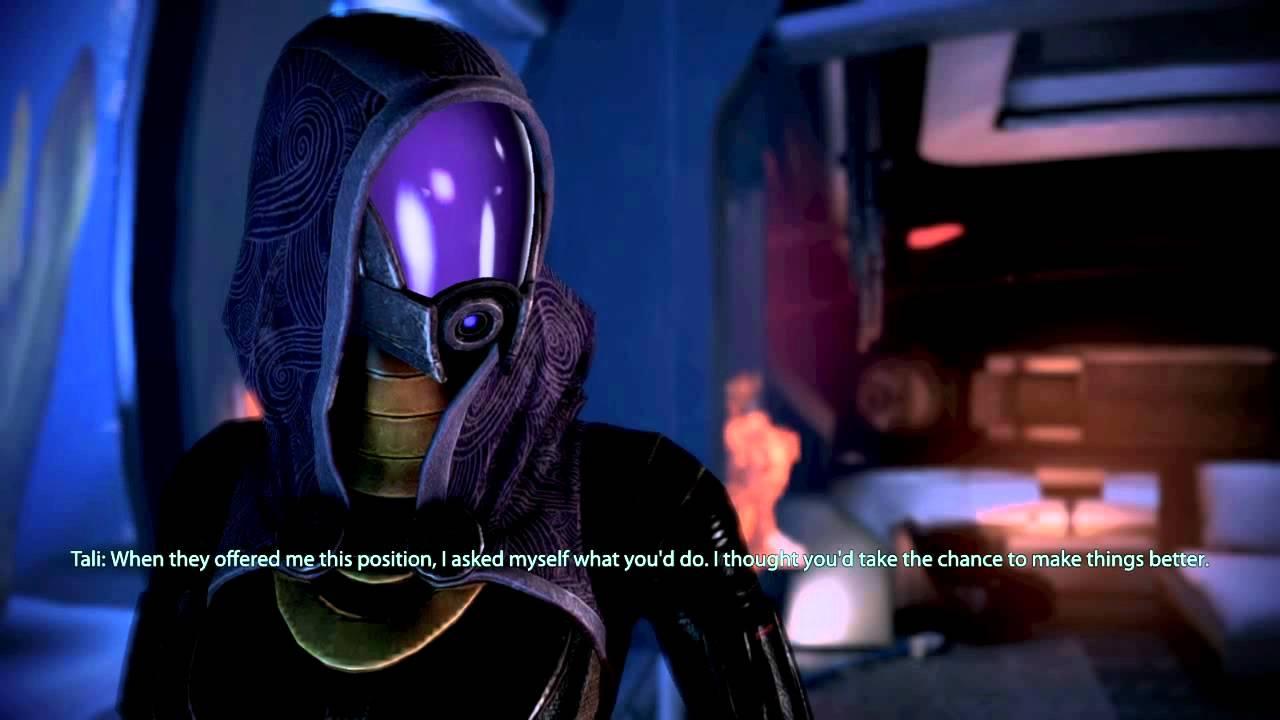 Mass Effect 3 romance guide - tali talk 1 - YouTube