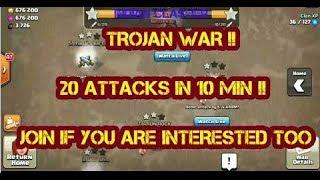 TROJAN WAR LIVE | WAR ATTACKS IN LAST 10 MIN | CLASH OF CLANS |
