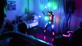 Световое шоу на свадьбе Space Man