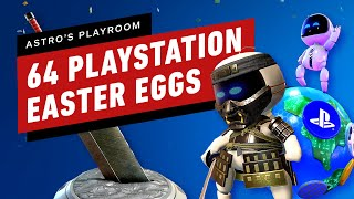 64 PlayStation Game Easter Eggs in Astro's Playroom