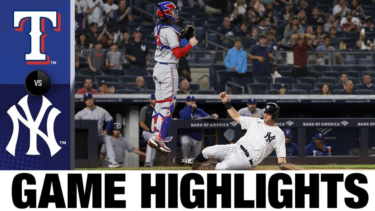 Download Rangers vs. Yankees Game Highlights (9/20/21) | MLB Highlights
