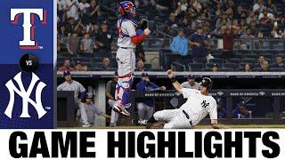 Rangers vs. Yankees Game Highlights (9/20/21) | MLB Highlights