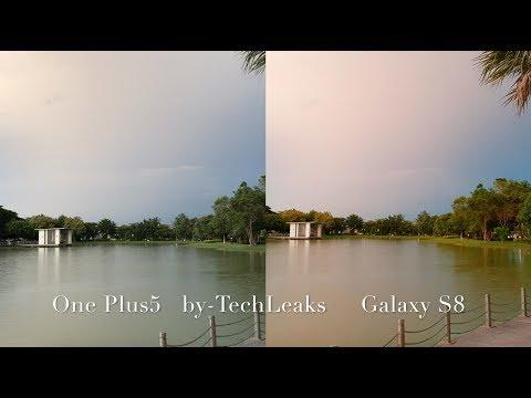 ONE PLUS 5 vs SAMSUNG GALAXY S8 LOW LIGHT 4K 30FPS VIDEO