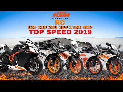 KTM RC 125 200 250 390 1190RC8 Top Speed 2019