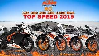 KTM RC 125 200 250 390 1190RC8 Top Speed 2019
