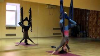 Флай йога для расслабления позвоночника