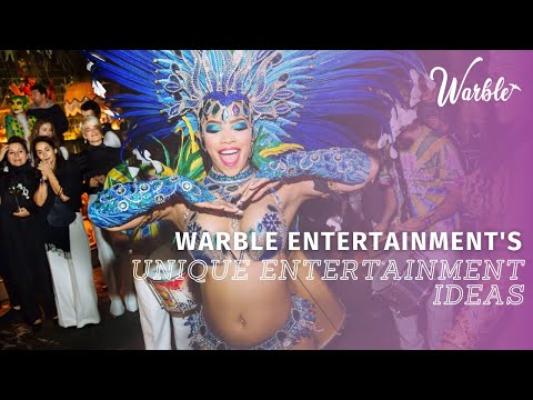 Unique Entertainment Ideas from Warble Entertainment Agency