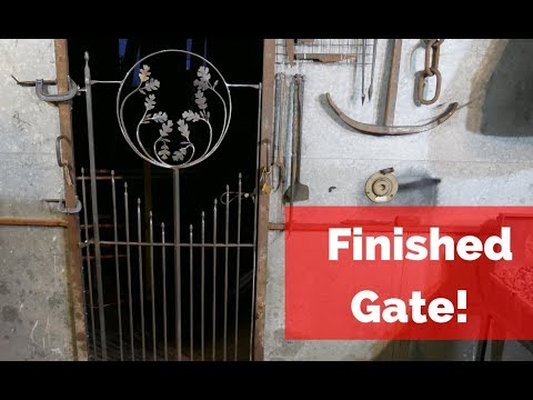 Forge welded Heel tenon and Gate Up Date!