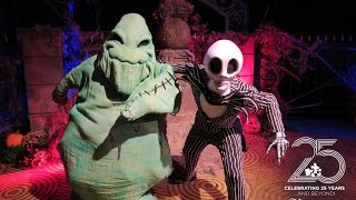 Repeat youtube video Oogie Boogie and Jack Skellington meet and greet at the DVC Halloween Party