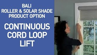 Bali Roller/Solar Shades with Continuous Cord Loop Lift