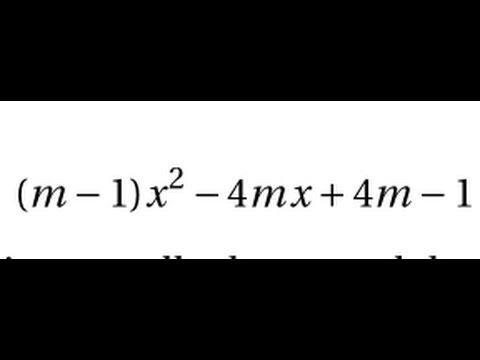 1S - Le second degré - Equation avec paramètre m -exercice ...