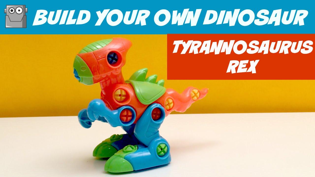 TYRANNOSAURUS REX BUILD YOUR OWN DINOSAUR - YouTube