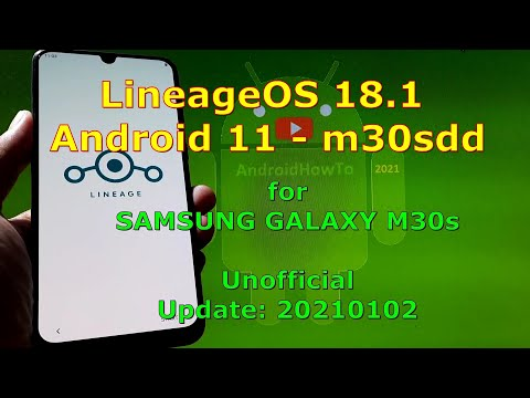 LineageOS 18.1 Android 11 for Samsung Galaxy M30s - Beta version