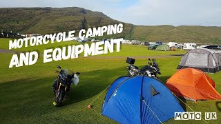 Wet Weather   Camping Equipment for a Motorcycle