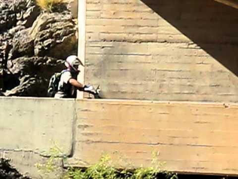 Mike entering the chute.AVI