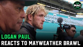 "Logan Paul reacts to Floyd Mayweather brawl: ""I didn't expect Floyd to try and k*ll my brother"""