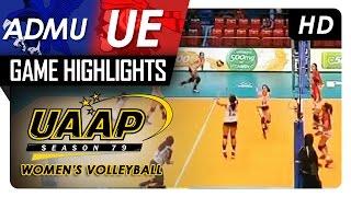 ADMU vs UE | Game Highlights | UAAP 79 WV | February 22, 2017