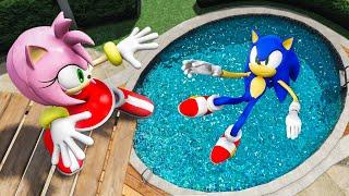 Download GTA 5 Sonic vs Amy Rose Water Ragdolls & Fails Ep.2 [Euphoria Physics / Flooded Los Santos]