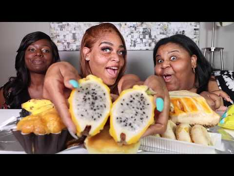 EXOTIC ASIAN FRUIT    How To Eat A Persimmon   Jackfruit    Fuyu    Prissy P    Eating Show
