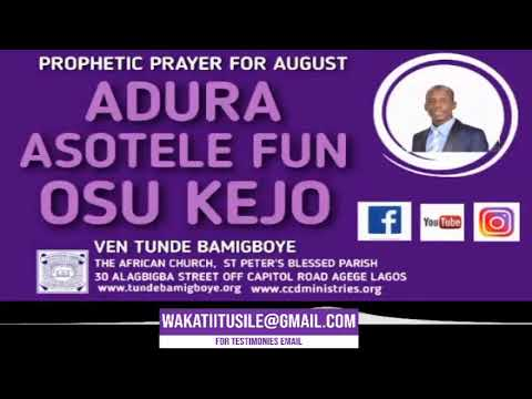 Download TOPIC: OLUWA FI ESE MI TELE NIBI AYE NLA / 1st August 2020  VEN TUNDE BAMIGBOYE