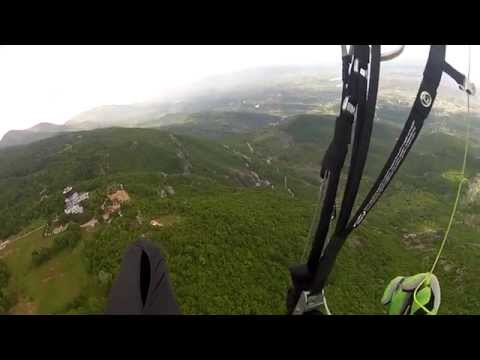 Artion Vreto - paragliding Cross Country test with xcsoar Android software at Dajti - Albania PART 1