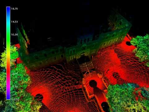 3D Lidar Scan of Edwin Building (intensity + Z Color map)