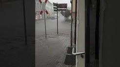 Bad Doberan Innenstadt Gewitter Stark Regen abgesoffen