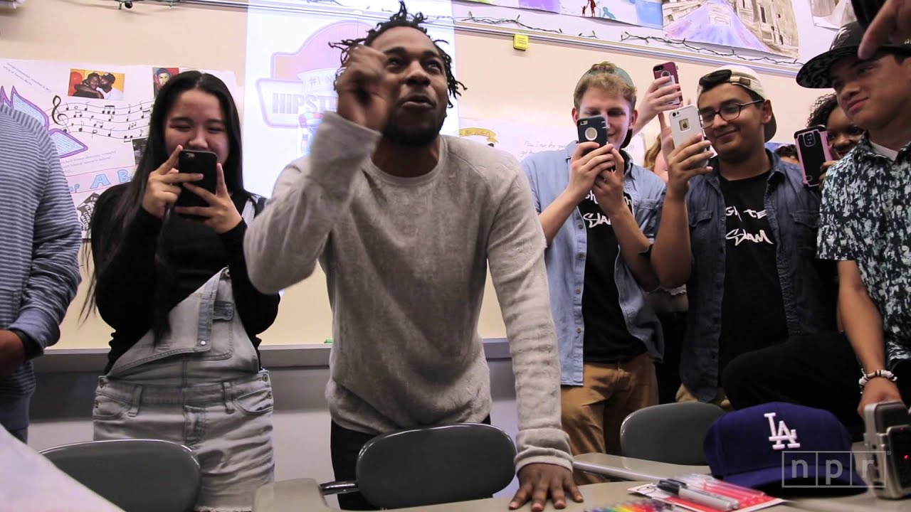 Kendrick Lamar Visits Mr. Mooney's Class