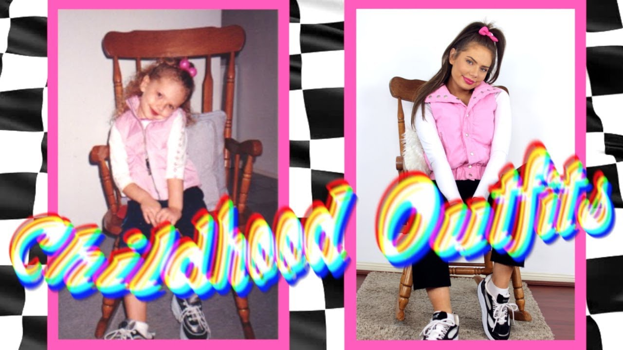 Recreating My Childhood Outfits! Late 90s/Early 2000u0026#39;s Fashion - YouTube
