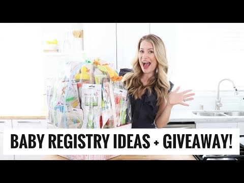 Baby Registry Must Haves + BIG GIVEAWAY! Healthy Grocery Girl
